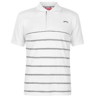 Slazenger Mens Jaquard Polo Shirt Classic Fit Tee Top Short Sleeve Button