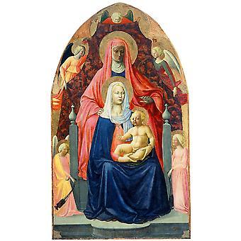 St. Anne Metterza, MASACCIO, 40x60cm mit Tablett