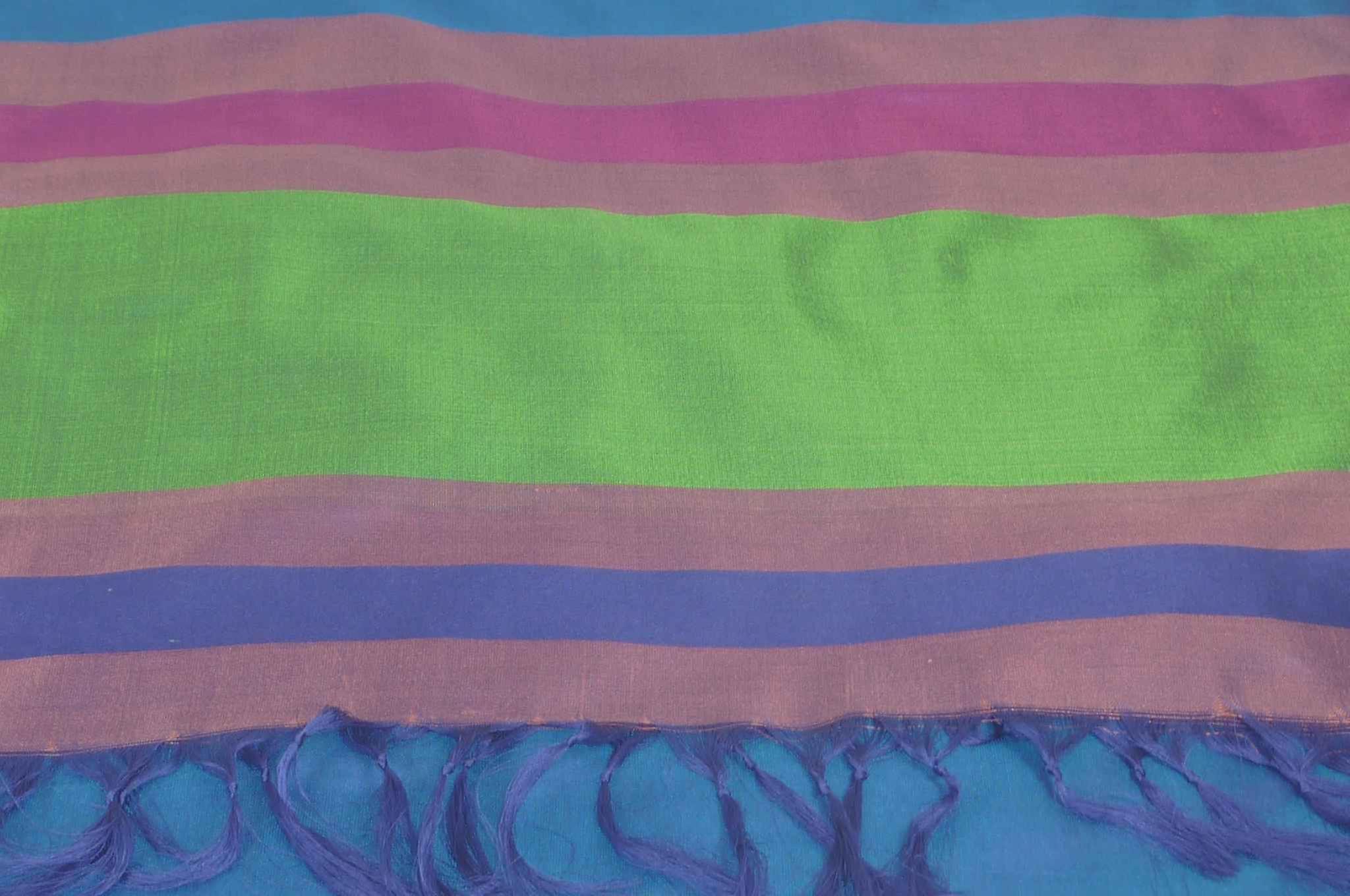 Varanasi Border Prime Silk Long Scarf Heritage Chaudry 804 by Pashmina & Silk