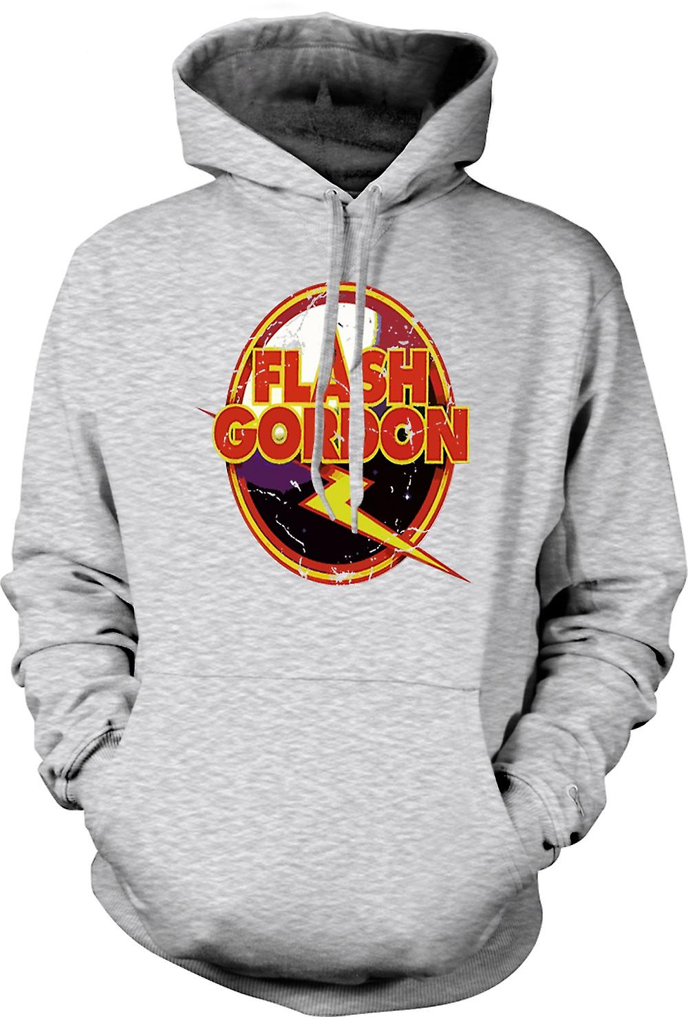 Mens hettegenser - Flash Gordon Logo - Sci Fi