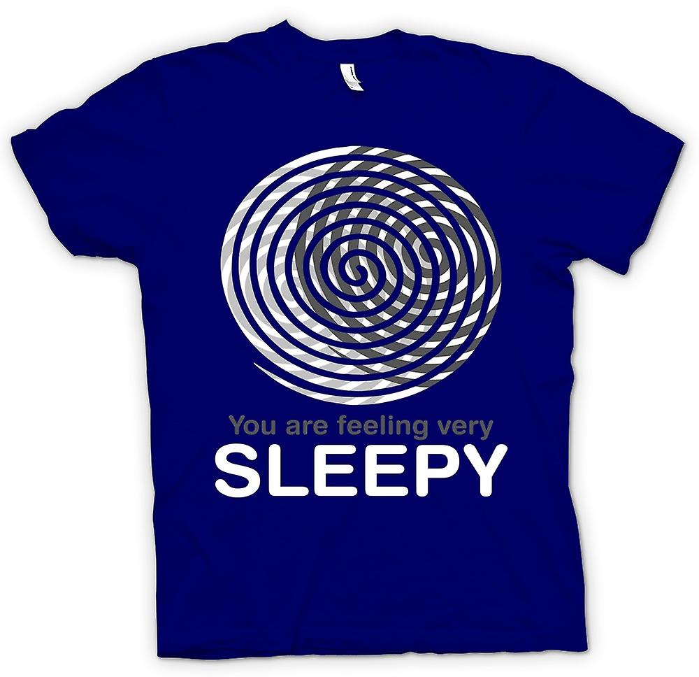 Mens T-shirt - You Are Feeling Very Sleepy - Funny