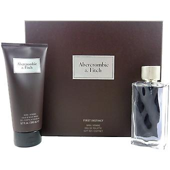Abercrombie & Fitch first instinct one - men set 100 ml EDT & 200 ml shower gel