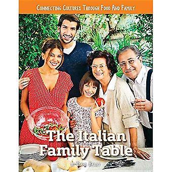 Der italienische Familientabelle (verbinden Kulturen durch Familie und Essen)