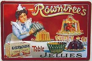 Rowntrees Jellies embossed steel sign