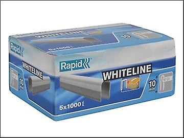 Rapid 28/10 10mm DP x 5m White Staples Pack 5 x 1000