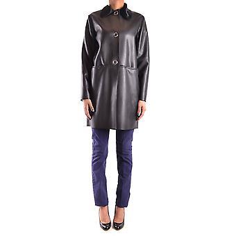 Pinko Black Faux Leather Coat