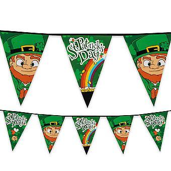 St Patrick's Day Plastic Bunting 8m Long Ireland Irish Party Decoration