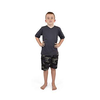 Socks Uwear Boys Cotton V-Neck Camo Short Pyjamas