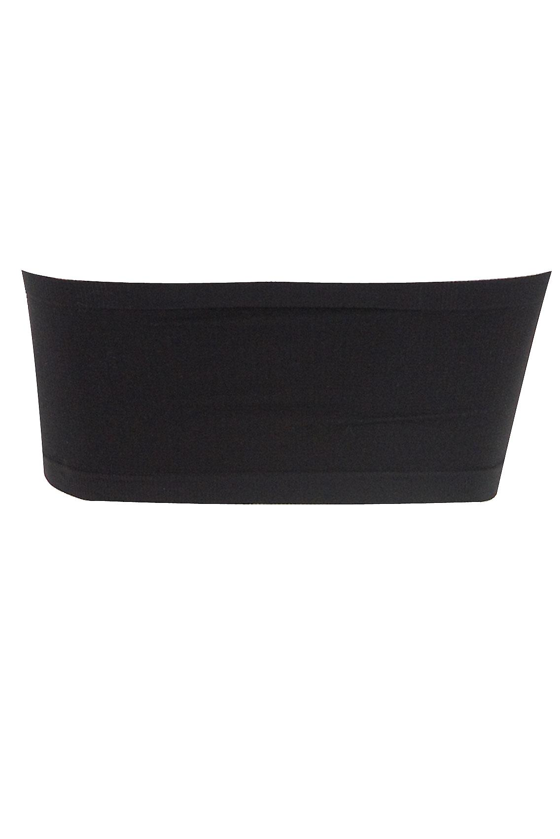Black Seamless Surefit Bandeau Bra With Soft Padded Full Cups