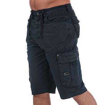 Heren arcering Black Label Chaseforth Cargo shorts in Navy-knoopsluiting-