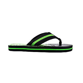 Revo Boys Flip Flops Little Kid Striped Thong Sandal With Printed Footbed
