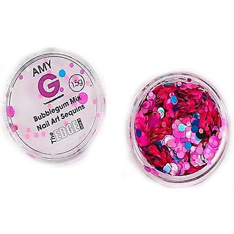 The Edge Nails Amy G - Sweet Nail Art Sequins - Bubblegum 1.5g (3003061)