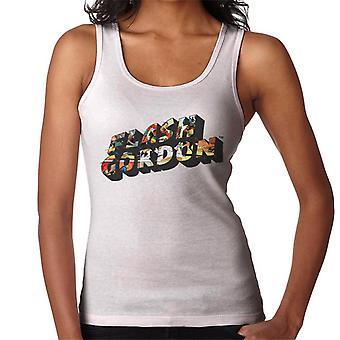 Flash Gordon Comic Montage Text Women's Vest