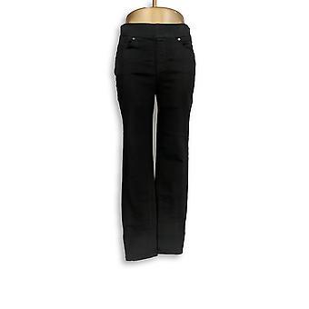 Martha Stewart Frauen's Jeans stricken Knöchel W / Reißverschluss Detail schwarz A351436