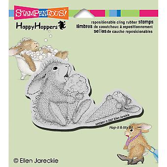 Stampendous Happyhopper Cling Rubber Stamp 3.5