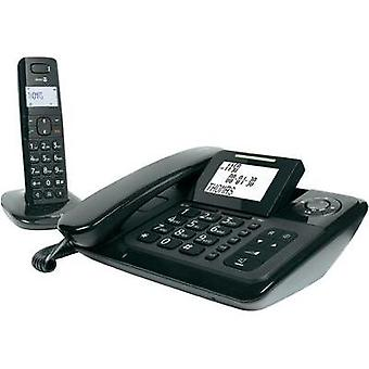 Corded Big Button doro Comfort 4005 Combo Visual call notification, Answerphone, Hands-free Backlit Black