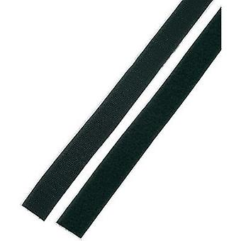 Hook-and-loop tape stick-on Hook and loop pad (L x W) 1000 mm x 25 mm