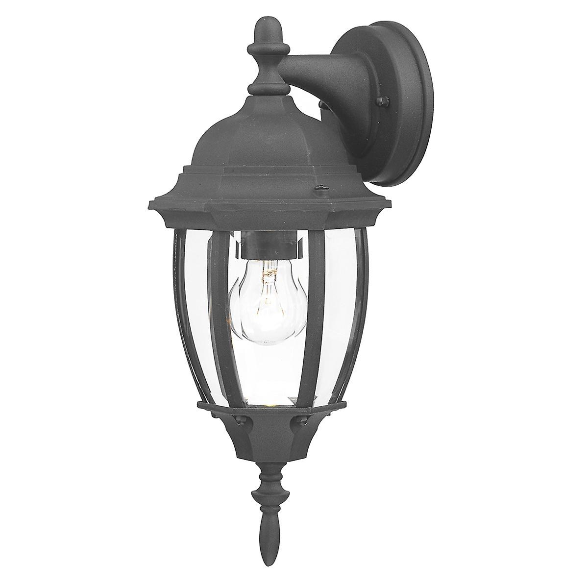 Dar HAM1622 Hambro Double Insulated Outdoor Wall Light In Black Finish