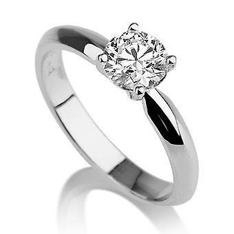Beautiful 2.00ct White Sapphire Ring White Gold 14K