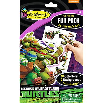 Colorforms(R) Fun Pack Re-Stickable Sticker Set-Teenage Mutant Ninja Turtles COLORFP-954