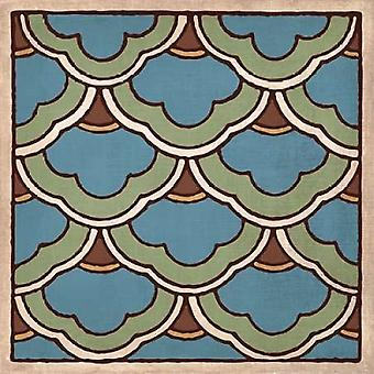 Tile Pattern II Poster stampa di Harbick N