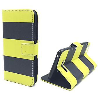 Mobile phone case pouch for mobile WIKO Lenny 2 Black / Yellow