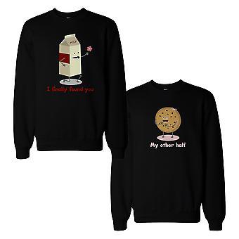 Melk og sjokolade chip Cookie par Sweatshirts matchende skjorter