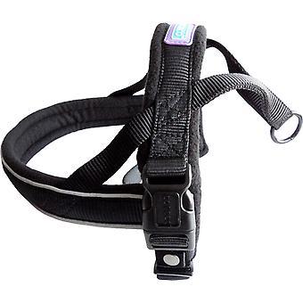 Dog & Co Nylon Norwegian Harness Reflective Padded Black Large