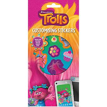 Trolls Set of 300+ Customising Stickers 6 Sheets