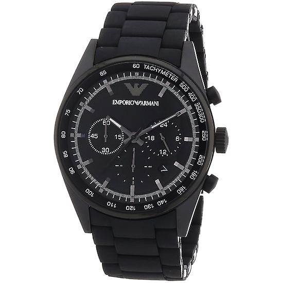 Emporio Armani AR5981 Black Sports Silicone Quartz Chronograph XL Watch