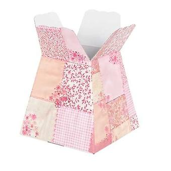 Pink Patchwork Posy Box