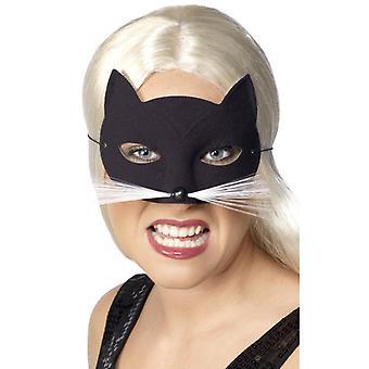猫マスク目マスク ブラック ・ キャット マスク猫