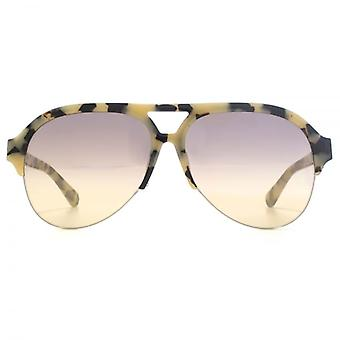 Stella McCartney Falabella Aviator Sunglasses In Beige Havana