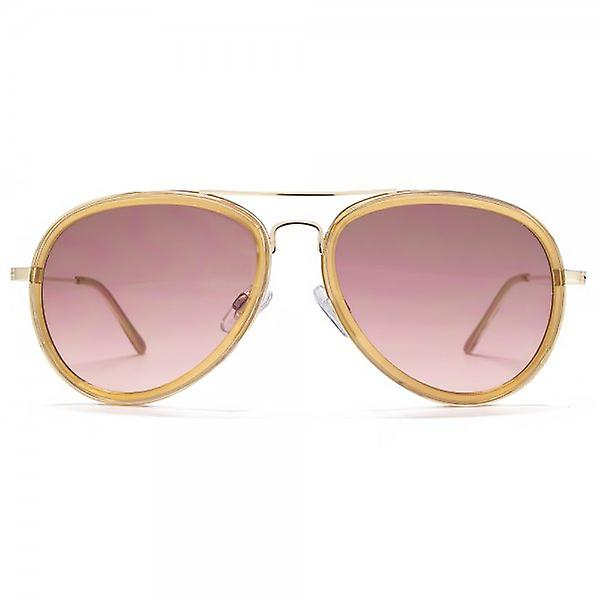 Miss KG Plastic Combo Aviator Sunglasses In Pearlised Nude