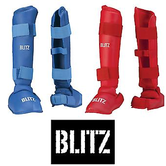 Blitz Sports PU Elite Shin With Removable Foot