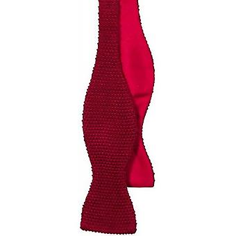40 Colori Knitted and Woven Untied Butterfly Bow Tie - Red