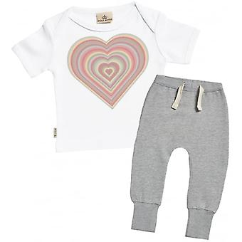 Spoilt Rotten Warm Heart Baby T-Shirt & Joggers Outfit Set