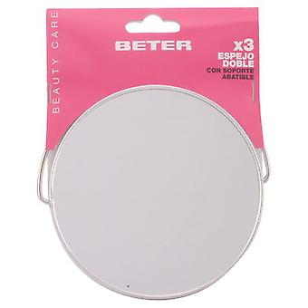 Beter Two ways metal mirror, 12,2 cm (Woman , Makeup , Accessories)