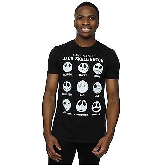 Disney Men's Nightmare Before Christmas Many Faces of Jack T-Shirt