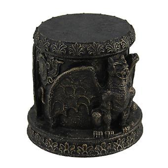 Gargoyle di finitura bronzo con coperchio contenitore di Trinket Stash