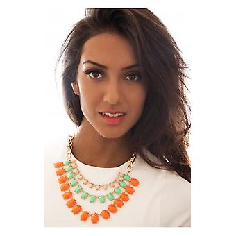 The Fashion Bible Tutti Frutti Necklace In Orange