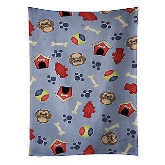 Dog House Collection Chocolate Brown Shih Tzu Kitchen Towel