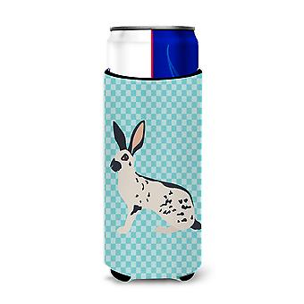 English Spot Rabbit Blue Check Michelob Ultra Hugger for slim cans