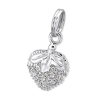 Strawberry - 925 Sterling Silver Charms with Split ring - W29892X