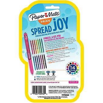 InkJoy Gel stylos .7mm 1951713 6/Pkg-divers