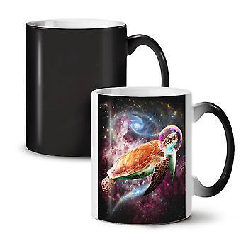 Outer Space Turtle NEW Black Colour Changing Tea Coffee Ceramic Mug 11 oz   Wellcoda