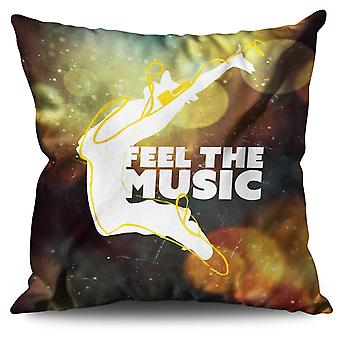 House Dj Song Dance Linen Cushion House Dj Song Dance | Wellcoda