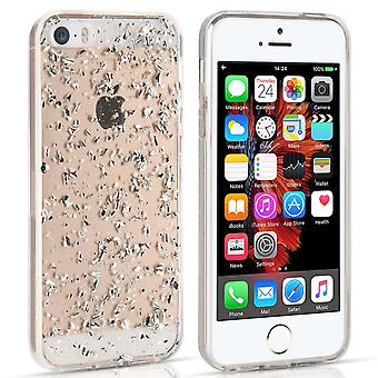 Yousave Accessories Iphone 5 And 5s / SE Tinfoil Soft Case - Silver