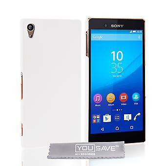 Yousave Sony Xperia Z3 Plus harte Hybrid Case - weiß