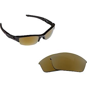 Flak Jacket Asian Fit Replacement Lenses Polarized Gold by SEEK fits OAKLEY
